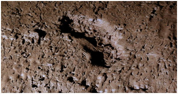 Prehistoric footprint