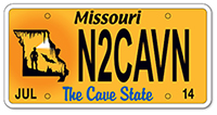 Missouri cave license plate