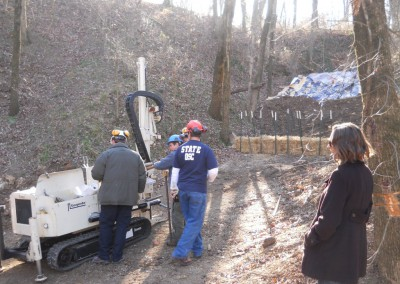 DNR GeoProbe drills core samples
