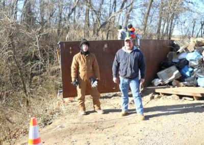 2-11-12 Filling a roll off dumpster
