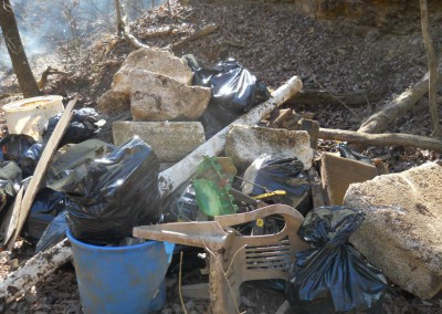 2-11-12 Assorted debris found in the sinkhole