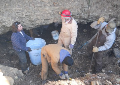 2-11-12 Working to clear cave entrance