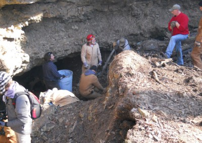 2-11-12 Clearing cave entrance