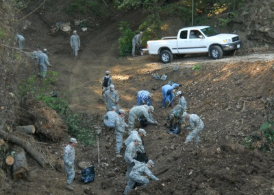 FLW soldiers at Goodwin Sinkhole