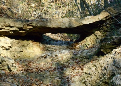 Close up of natural bridge