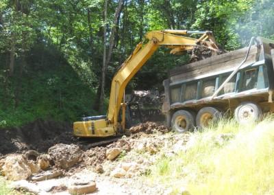 Loading dump truck 6-21-14