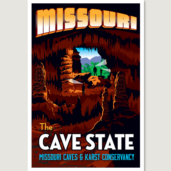 Missouri Cave State Poster